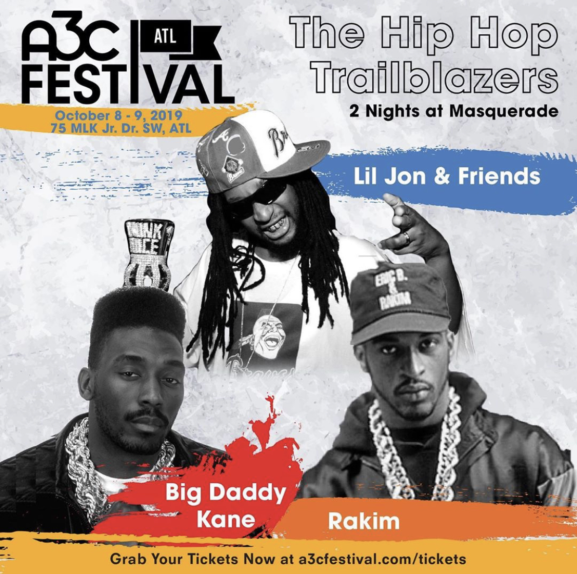 Lil Jon & Friends, Rakim and Big Daddy Kane Announced for A3C Music Festival & Conference's Trailblazer Concert series
